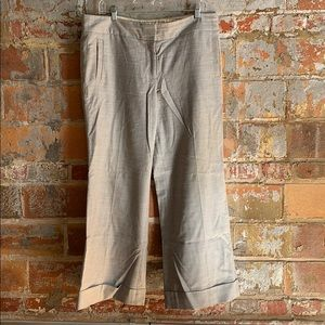 J. Crew grey flannel trousers
